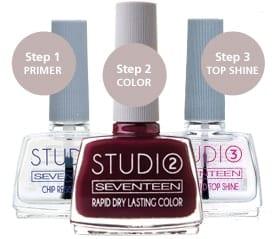seventeen studio rapid dry lasting color